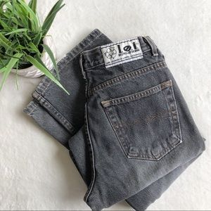 Vintage L.e.i. Recycled Denim Faded Black Jeans